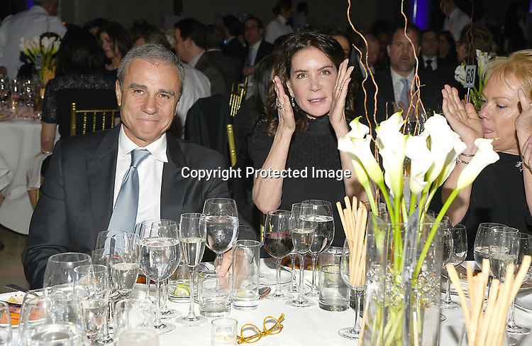 Andrew Zaro and wife Lois Robbins attend the Columbia Grammar & Prep School 2017 Benefit on March 8, 2017 at Cipriani Wall Street in New York, New York.