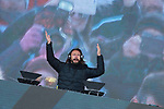 French DJ, Bob Sinclar performs during the Bob Sinclar - Dolomiti Top Music at in Madonna di Campiglio, on April 1, 2018.