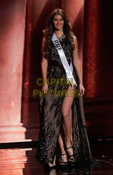16 December 2015 - Las Vegas, Nevada -  Miss Italy, Giada Pezzaioli.  2015 Miss Universe Preliminary Competition at Axis at Planet Hollywood Resort and Casino. <br /> CAP/ADM/MJT<br /> &copy; MJT/AdMedia/Capital Pictures