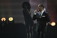El cantante mexicano Alejandro Fernadez , durante su concierto en el MGM de las Vegas Nevada. 14 septiembre 2014.<br /> <br /> Mexican singer Alejandro Fernadez, during his concert at the MGM in Las Vegas Nevada. September 14,