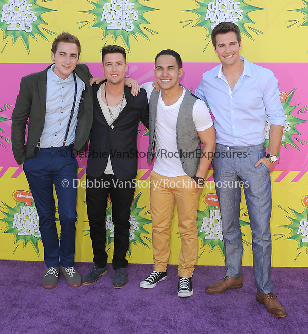 Big Time Rush at The Nickelodeon's Kids' Choice Awards 2013 held at The Galen Center in Los Angeles, California on March 23,2013                                                                   Copyright 2013 Hollywood Press Agency