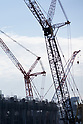 Cranes are seen at the New National Stadium under construction on November 26, 2017, Tokyo, Japan. The New National Stadium will be the venue for 2020 Tokyo Olympic and Paralympic Games. (Photo by Rodrigo Reyes Marin/AFLO)