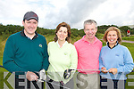 FOUR: Dooks Golfers who took part in the Kerry Deaf Resource Centre Gold Classic in Dooks Golf Club on Friday last..L/r. Diarmuid Murphy, Clare Lyons, Eddie Cogan and Jackie Cogan.   Copyright Kerry's Eye 2008