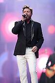 DURAN DURAN - vocalist Simon LeBon joins TIMBALAND on stage -  performing live at the  Sound of Change Live concert held at the Twickenham Stadium Surrey UK - 01 Jun 2013.  Photo credit: John Rahim/Music Pics Ltd/IconicPix