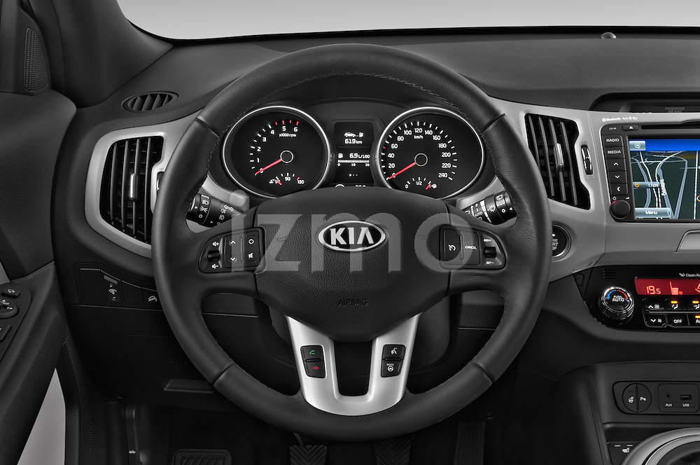 Car pictures of steering wheel view of a 2014 KIA SPORTAGE Sense 5 Door SUV 2WD Steering Wheel
