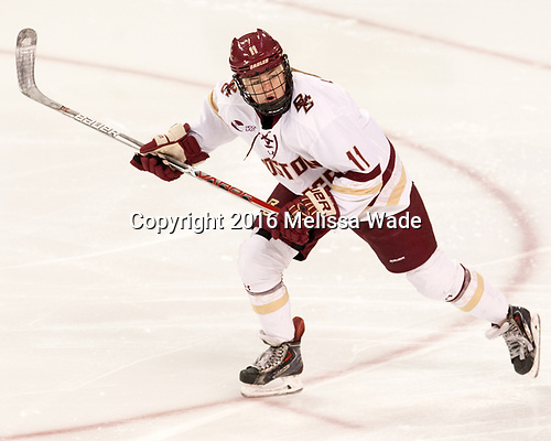 Caitrin Lonergan (BC - 11) - The Boston College Eagles defeated the visiting Boston University Terriers 5-3 (EN) on Friday, November 4, 2016, at Kelley Rink in Conte Forum in Chestnut Hill, Massachusetts.The Boston College Eagles defeated the visiting Boston University Terriers 5-3 (EN) on Friday, November 4, 2016, at Kelley Rink in Conte Forum in Chestnut Hill, Massachusetts.