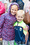 Ciara and Ben O'Connor (Ballyheigue), all smiles watching the Rose of Tralee parade on Sunday afternoon last.