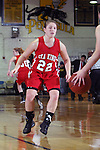 Palos Verdes, CA January 19, 2010 - Summer Benda (22) eyes the ball in a Peninsula player during the Palos Verdes vs Peninsula Panthers basketball game at Peninsula High School.