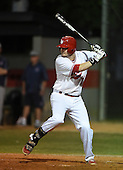 Lake Mary Rams first baseman Jacob Corso (24) during a game against the Lake Brantley Patriots on April 2, 2015 at Allen Tuttle Field in Lake Mary, Florida.  Lake Brantley defeated Lake Mary 10-5.  (Mike Janes Photography)