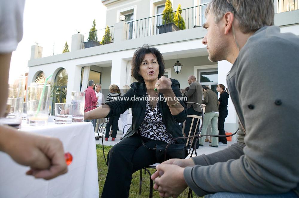 Yamina Bachir (C) et Thomas de Thier (D), 20 ans de la Fondation Groupama-Gan pour le Cinema, Le Cannet, France, 17 mai 2007.