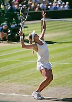 England, London, 28.06.2014. Tennis, Wimbledon, AELTC, Semifinal match between Eugenie Bouchard and Simone Halep, Pictured: Eugenie Bouchard (CAN)<br /> Photo: Tennisimages/Henk Koster
