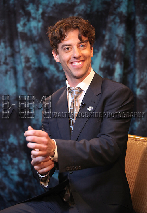 Christian Borle.Behind the Scene at the 2012 Tony Award-Meet The Nominees Press Reception at Millennium Broadway Hotel on May 2, 2012 in New York City.