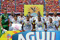 MEDELLÍN- COLOMBIA, 3-06-2018:Formación del Deprtes Tolima a la final con Atlétco Nacional. durante partido por la semifinal  vueta de la Liga Águila I 2018 jugado en el estadio Atanasio Girardot de la ciudad de Medellín. / Team of Deportes agaisnt of Independiente Medellin  during the second  match semifnal  for the Liga Aguila I 2018 played at the Atanasio Girardot Stadium in Medellin city. Photo: VizzorImage / León Monsalve / Contribuidor