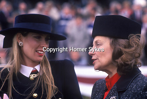 Mrs Susan Sangster and Mrs Pat O'Brien wife of Trainer Cartier Million Horse race Dublin 1989.