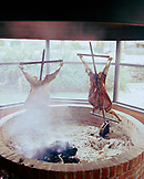 ARGENTINA, Bariloche, Llao Llao hotel, lamb and sheep being grilled