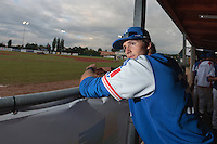 17 August 2010: Jonathan Dechelle of Team France is seen in the dugout during the Czech Republic 4-3 win over France, at the 2010 European Championship, under 21, in Brno, Czech Republic.