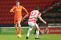 Blackpool's Joe Bunney and Doncaster Rovers' Tom Anderson<br /> <br /> Photographer Rachel Holborn/CameraSport<br /> <br /> The EFL Sky Bet League One - Doncaster Rovers v Blackpool - Tuesday 27th November 2018 - Keepmoat Stadium - Doncaster<br /> <br /> World Copyright &copy; 2018 CameraSport. All rights reserved. 43 Linden Ave. Countesthorpe. Leicester. England. LE8 5PG - Tel: +44 (0) 116 277 4147 - admin@camerasport.com - www.camerasport.com