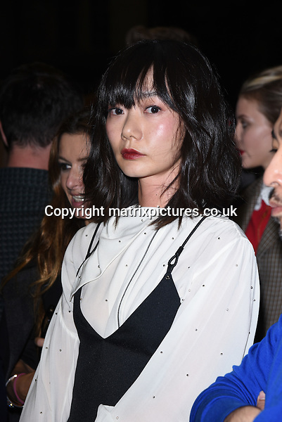 NON EXCLUSIVE PICTURE: MATRIXPICTURES.CO.UK<br /> PLEASE CREDIT ALL USES<br /> <br /> WORLD RIGHTS<br /> <br /> South Korean actress Doona Bae attending the Louis Vuitton Series 3 Exhibition launch party, in London. <br /> <br /> SEPTEMBER 20th 2015<br /> <br /> REF: SLI 152927