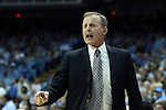 18 December 2013: Texas head coach Rick Barnes. The University of North Carolina Tar Heels played the University of Texas Longhorns at the Dean E. Smith Center in Chapel Hill, North Carolina in a 2013-14 NCAA Division I Men's Basketball game. Texas won the game 86-83.