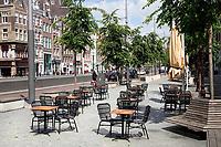 Nederland - Amsterdam-  2020. Terras staat klaar op het Rokin.  Foto Berlinda van Dam / ANP / Hollandse Hoogte
