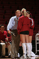 27 October 2005: John Dunning during Stanford's 3-0 win over Oregon at Maples Pavilion in Stanford, CA.