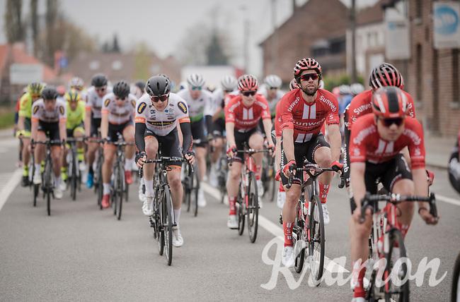 Michael Matthews (AUS/Sunweb) checking out the front<br /> <br /> 59th De Brabantse Pijl - La Flèche Brabançonne 2019 (1.HC)<br /> One day race from Leuven to Overijse (BEL/196km)<br /> <br /> ©kramon