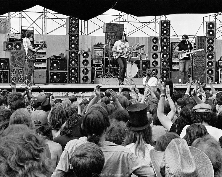 The Grateful Dead perform in DesMoines, Iowa at the State Fairgrounds in 1973.