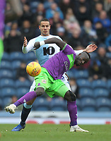 Blackburn Rovers Jack Rodwell battles with  Bristol City's Famara Diedhiou<br /> <br /> Photographer Mick Walker/CameraSport<br /> <br /> The EFL Sky Bet Championship - Blackburn Rovers v Bristol City - Saturday 9th February 2019 - Ewood Park - Blackburn<br /> <br /> World Copyright &copy; 2019 CameraSport. All rights reserved. 43 Linden Ave. Countesthorpe. Leicester. England. LE8 5PG - Tel: +44 (0) 116 277 4147 - admin@camerasport.com - www.camerasport.com