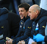 John Carver, caretaker manager of Newcastle United - Newcastle United vs. Stoke City - Barclay's Premier League - St James' Park - Newcastle - 08/02/2015 Pic Philip Oldham/Sportimage