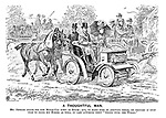"A Thoughtful Man. Mr Jenkins drove his new motor-car down to Epsom; But, to make sure of arriving there, he thought it only wise to bring his horses as well, in case anything went ""wrong with the works."""