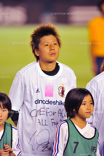 Ayumi Kaihori (JPN),AUGUST 19, 2011 - Football / Soccer : East Japan Earthquake Charity Women's Football Match between Japan Women's National Team 3-2 Nadeshiko League XI at National Stadium in Tokyo, Japan. (Photo by Jun Tsukida/AFLO SPORT) [0003]