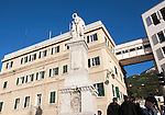 Second world war British memorial monument Gibraltar, British terroritory in southern Europe