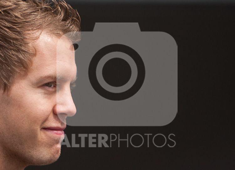 21.07.2011, Nuerburgring, Adenau, GER, F1, Grosser Preis von Deutschland, Nürburgring, Streckenbesichtigung der Fahrer, im Bild Sebastian Vettel (GER), Red Bull Racing-Renault // during circuit inspection at Formula One Championships 2011 German Grand Prix held at the Nuerburgring, Adenau, Germany, 21/7/2011, EXPA Pictures © 2011, PhotoCredit: EXPA/ J. Groder