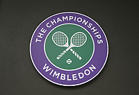 Wimbledon signage<br /> <br /> Photographer Rob Newell/CameraSport<br /> <br /> Wimbledon Lawn Tennis Championships - Day 3 - Wednesday 4th July 2018 -  All England Lawn Tennis and Croquet Club - Wimbledon - London - England<br /> <br /> World Copyright &not;&uml;&not;&copy; 2017 CameraSport. All rights reserved. 43 Linden Ave. Countesthorpe. Leicester. England. LE8 5PG - Tel: +44 (0) 116 277 4147 - admin@camerasport.com - www.camerasport.com