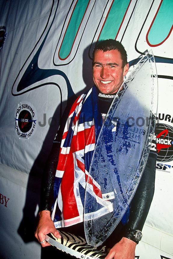 JOEL PARKINSON (AUS)  after winning the Billabong Pro at Jeffreys Bay, South Africa as a wildcard. Photo: www.joliphotos.com