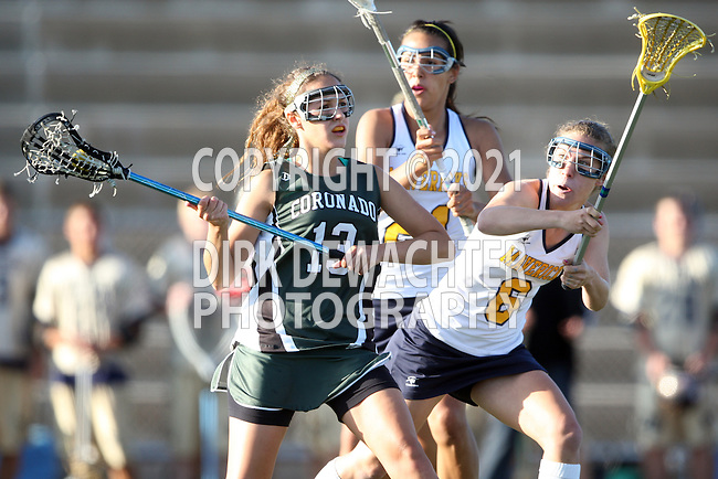 Coronado vs La Costa Canyon (CIF San Diego Sectional Girls Lacrosse Final).Rancho Bernardo High School Stadium, San Diego...\LCC.\COR..506P4680.JPG.CREDIT: Dirk Dewachter