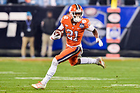 Charlotte, NC - DEC 2, 2017: Clemson Tigers wide receiver Ray-Ray McCloud (21 runs the football during ACC Championship game between Miami and Clemson at Bank of America Stadium Charlotte, North Carolina. (Photo by Phil Peters/Media Images International)