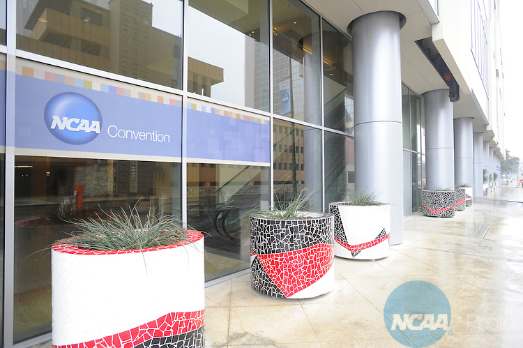 13 JAN 2011: Signage at the 2011 NCAA Convention. Stephen Nowland/NCAA Photos