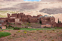 Morocco.  Kasbah Glaoui, Historic Headquarters of the Glaouwi Clan, Telouet, Atlas Mountains.