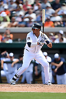 Detroit Tigers designated hitter Victor Martinez (41) during a Spring Training game against the Miami Marlins on March 25, 2015 at Joker Marchant Stadium in Lakeland, Florida.  Detroit defeated Miami 8-4.  (Mike Janes/Four Seam Images)
