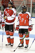 Guy Leboeuf (RPI - 3), John Kennedy (RPI - 5) - The visiting Rensselaer Polytechnic Institute Engineers tied their host, the Northeastern University Huskies, 2-2 (OT) on Friday, October 15, 2010, at Matthews Arena in Boston, MA.
