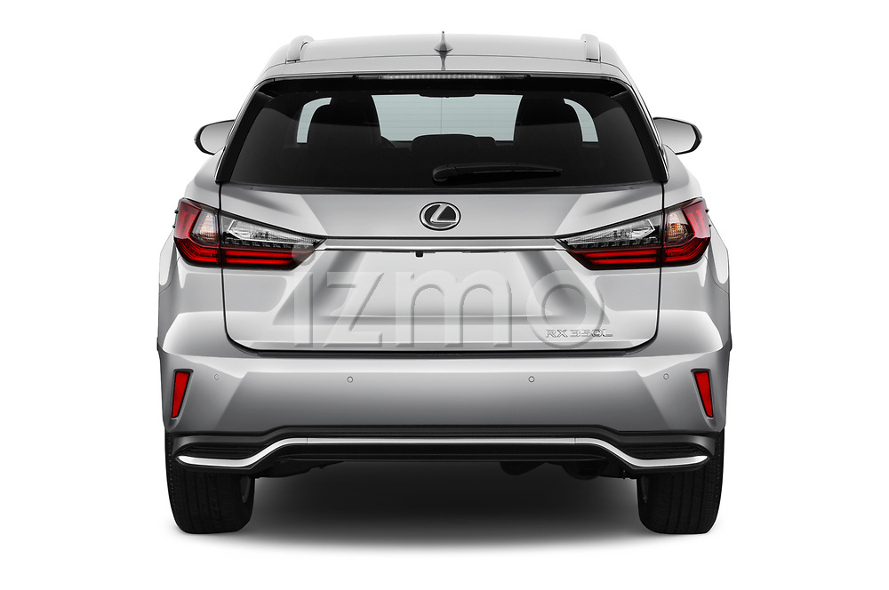 Straight rear view of 2018 Lexus RX 350L-4x2 5 Door SUV Rear View  stock images