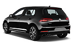 Car pictures of rear three quarter view of 2017 Volkswagen Golf GTD 5 Door Hatchback angular rear