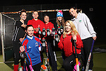 Drink Awareness Wales.Carmarthen Hockey Club.Carys Thomas, Ffion Evans, Kate Williams, Gwenno Davies, Fiona Kerray, Eleanor Phillips & Ruby Breeze..04.12.12..©Steve Pope