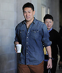 Masahiro Tanaka (Yankees),<br /> FEBRUARY 15, 2014 - MLB :<br /> Masahiro Tanaka of the New York Yankees leaves the team's spring training facility during the New York Yankees spring training camp in Tampa, Florida, United States. (Photo by AFLO)
