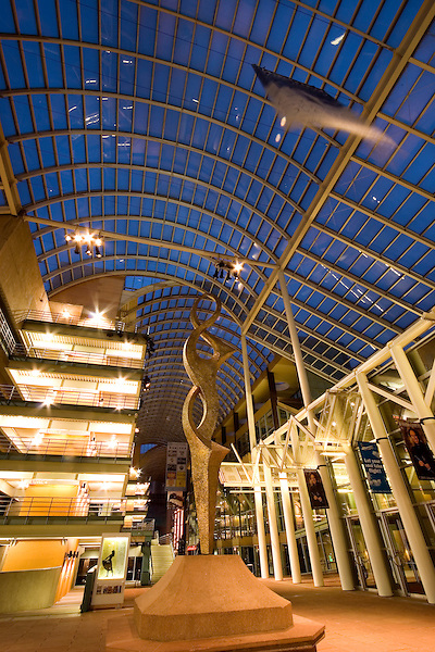 Atrium at Denver Center for the Performing Arts, Denver, Colorado, USA John offers private photo tours of Denver, Boulder and Rocky Mountain National Park. .  John offers private photo tours in Denver, Boulder and throughout Colorado. Year-round.