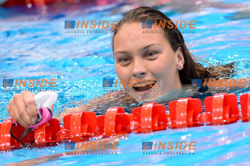 Mie Oe. NIELSEN DEN Gold Medal <br /> 100m Backstroke women Final <br /> London, Queen Elizabeth II Olympic Park Pool <br /> LEN 2016 European Aquatics Elite Championships <br /> Swimming<br /> Day 11 19-05-2016<br /> Photo Andrea Staccioli/Deepbluemedia/Insidefoto