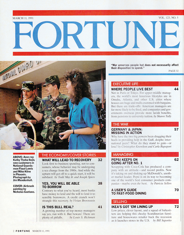 Clip published in Fortune Magazine. photo Jim Mendenhall