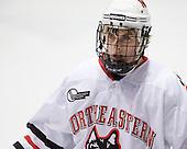 Garrett Vermeersch (NU - 9) - The Northeastern University Huskies defeated the Boston College Eagles 3-2 on Friday, February 19, 2010, at Matthews Arena in Boston, Massachusetts.