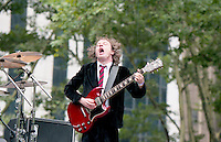 Angus Young AC/DC Filming Howard Sterns<br />